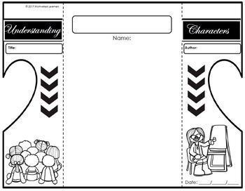 Understanding Characters Interactive Notebook Foldable by