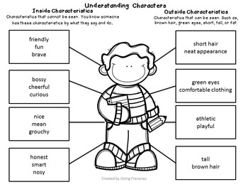 Understanding Characters Lesson Activities AND Character
