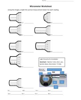 Understanding Micrometers Powerpoint and Worksheet by Here