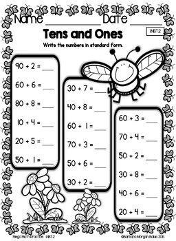 First Grade Math Place Value Mega Math Practice SPRING 1
