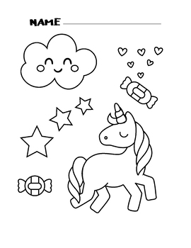 Unicorn Coloring Pages Printable Coloring Book For Kids by