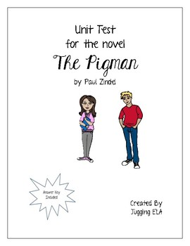 Unit Test for the novel The Pigman by Paul Zindel by