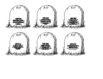 United States History Tombstone Review by Social Studies