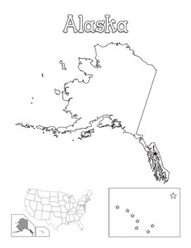 United States Map of Individual States Coloring Book by
