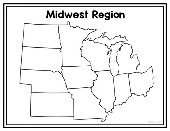 United States Regions Poster Map and Interactive Notebook