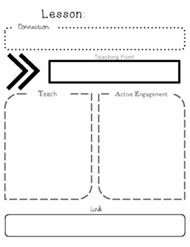 Units of Study (Lucy Calkins) Planning Template by A Cup