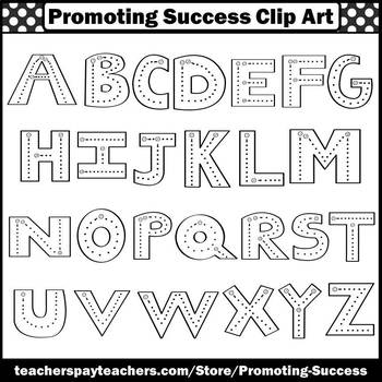 Uppercase Letters Tracing, Alphabet Clipart, Alphabet