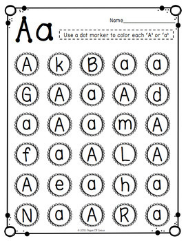 Letter Recognition Activities Uppercase & Lowercase by