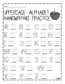 Uppercase and Lowercase Handwriting Practice Sheet by
