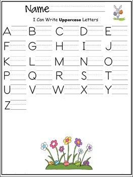 Uppercase letters of the alphabet writing worksheet