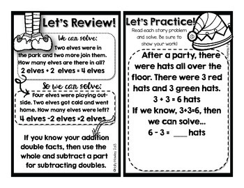 Using Addition to Subtract Doubles {A Math Decodable Book