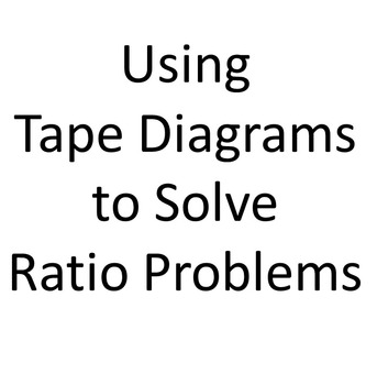 Using Tape Diagrams to Solve Ratio Problems PowerPoint by