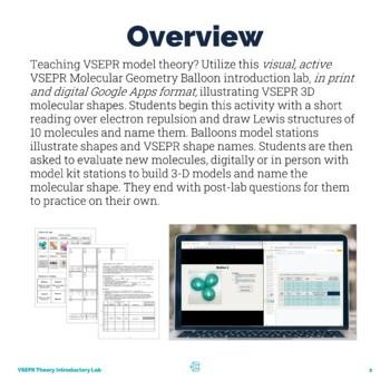 VSEPR Theory Molecular Geometry Introductory Lab by