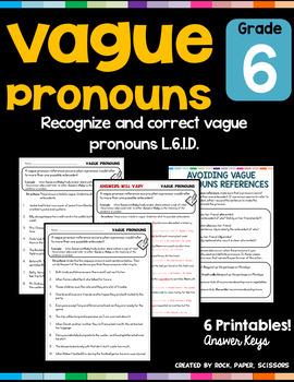 Vague Pronouns L 6 1 D By Rock Paper Scissors