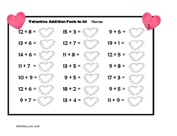 Addition and Subtraction Facts to 20--Quick Worksheets