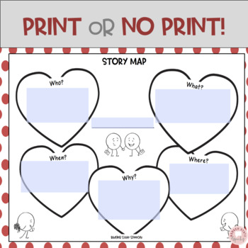 Valentine's Day Graphic Organizers by Badger State Speechy