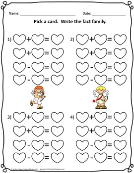Valentine Math Center Activities (9 centers in all