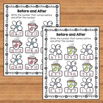 Valentine Kindergarten Math Activities and Worksheets for