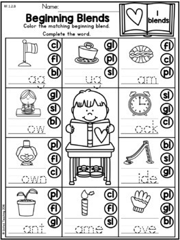 Valentine's Day Literacy Activities (1st Grade) by United
