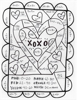 Valentine's Day 6 pg Packet- Pictograph/Math Sheet/Word