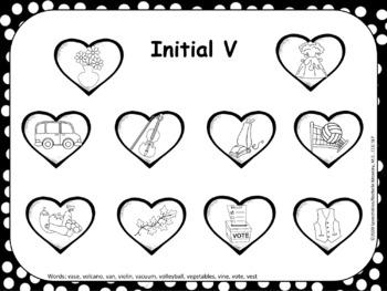 Valentine's Day Articulation Smash Mats FREEBIE: V Speech