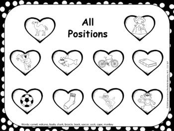 Valentine's Day Articulation Smash Mats: K Speech Sound