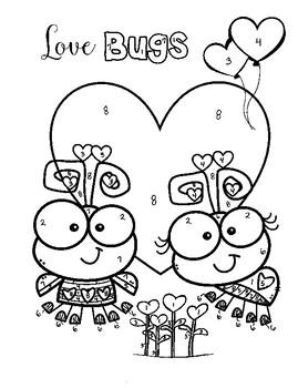 Valentine's Day Love Bugs Transformations (Rigid Motion