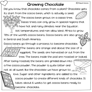 Valentine's Day Nonfiction reading Differentiated