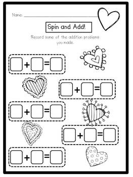 Valentine's Day Activities- Math and Literacy by Julia