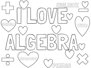 Alge Math Coloring Worksheets. Alge. Best Free Printable