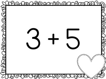 Valentine's Day Math BINGO for First Grade {Addition