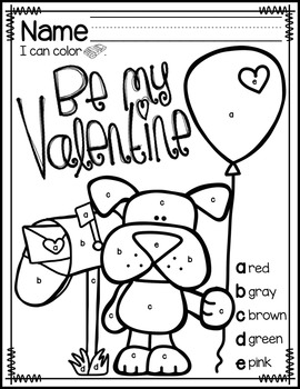 Valentine's Day Color by Letter Pages {FREEBIE} by Mrs