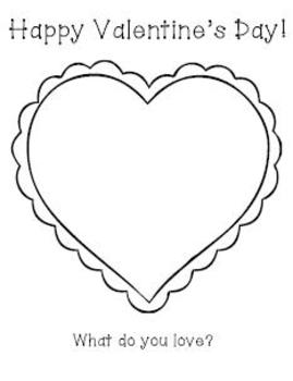 drawing activity valentines valentine draw heart teacherspayteachers simple activities emily student coloring sold