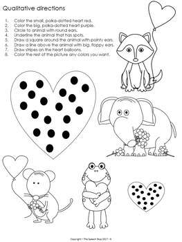 Valentines Day Following Directions Coloring Pages by