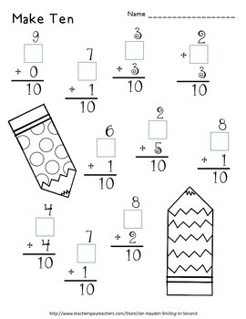 Valentine's Day Math Print and Go Worksheets by Janetta