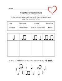 Valentine's Day Music Rhythm Worksheet by Christine Larsen ...