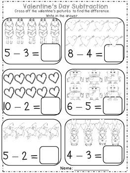 Valentine's Day No Prep Kinder Math Packet by Danielle