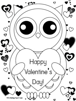 Valentine's Day Owl Coloring Page! {Valentine's Day/Owl