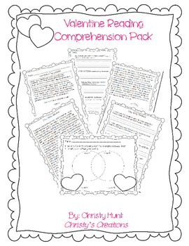Valentine's Day Reading Comprehension Stories and More by
