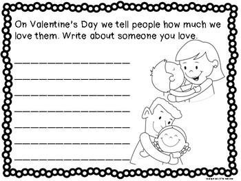 Valentine's Day Writing Prompts (1st-3rd) by The Busy