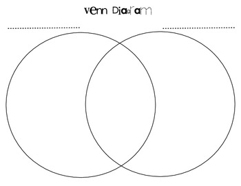Venn Diagram Compare and Contrast Graphic Organizer by