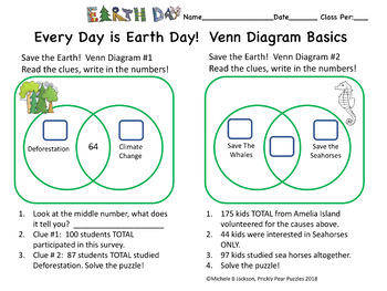 venn diagram puzzles vintage earth day puzzle diagrams critical thinking graphs