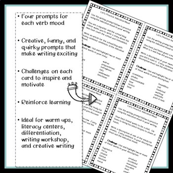 Verb Mood Bundle with activities, task cards, and