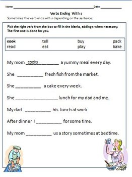 Verbs Worksheets Action Words For Grade 1 By Rituparna