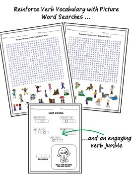 ESL Activities: Verbs Puzzle Pack ELL EFL Newcomer and