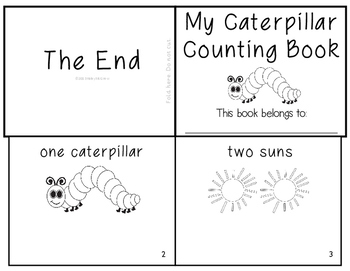 The Very Hungry Caterpillar Counting Book Emergent Reader