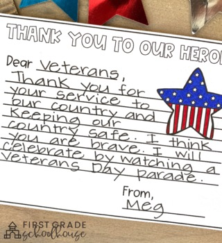Veterans Day Activities and Craft by First Grade