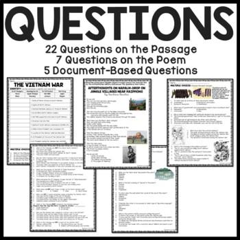 Vietnam War Reading Comprehension Worksheet and Document