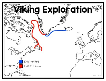 Viking Exploration of North America Poster Map and