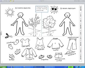 ¿Qué me pongo? weather and clothing activity by Aprender